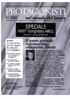 Novembre 2003 – Speciale XXIII Congresso